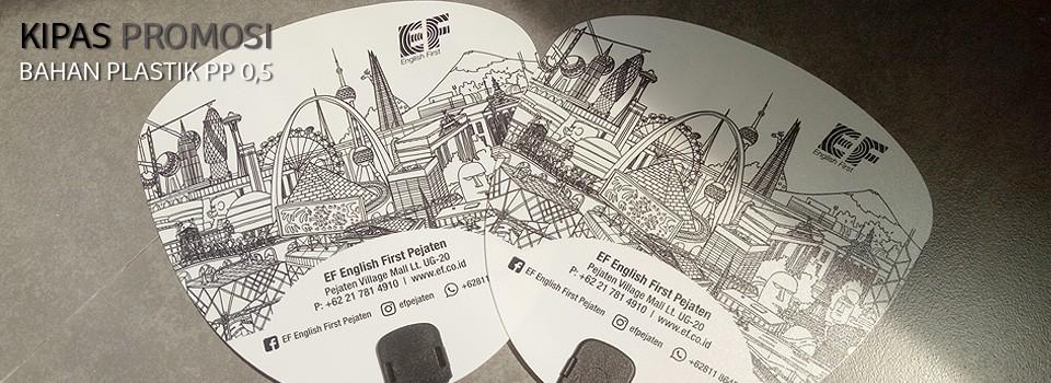 Kipas promosi EF Pejaten bahan plastik