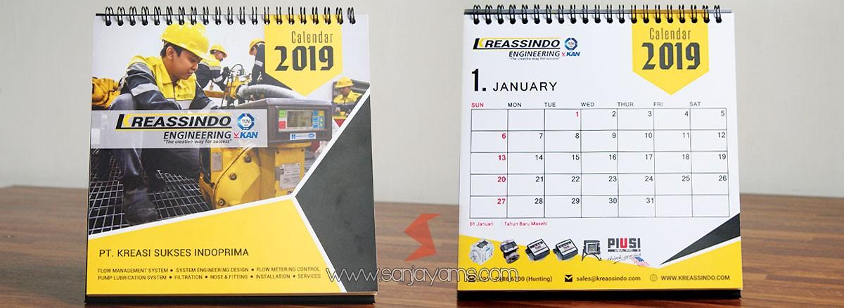 Kalender Meja 2019 PT Kreassindo