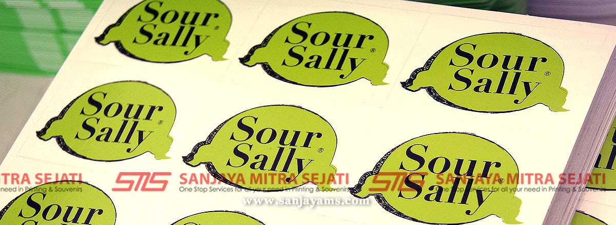 Sticker Transparant Gelas Sour Sally