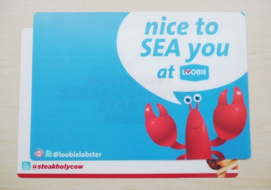 Placemat Resto Loobie Lobster