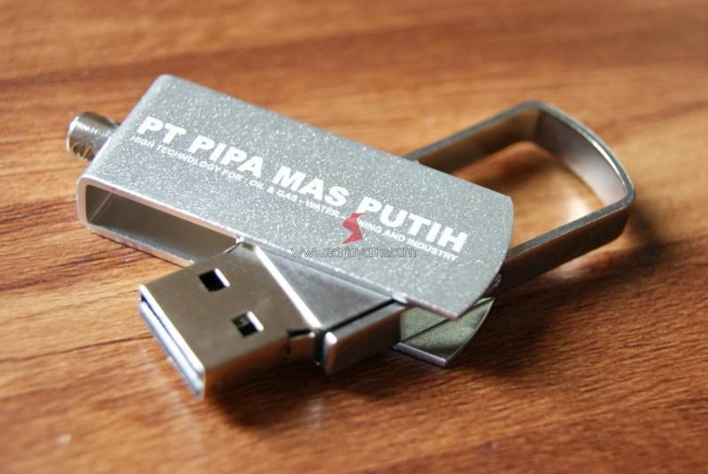 USB Metal Swivel Mini PT Pipa Mas Putih
