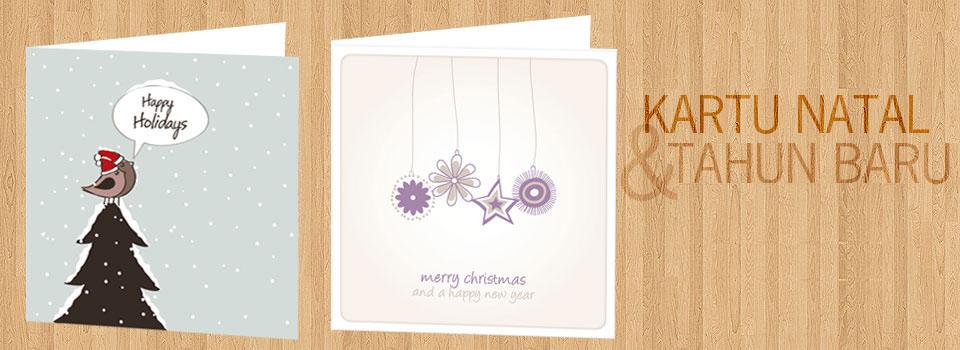 Design kartu natal dan tahun baru