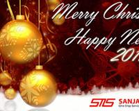 Buat kartu natal dan tahun baru dengan logo perusahaan