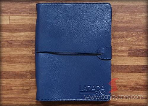 Agenda kulit warna biru dongker