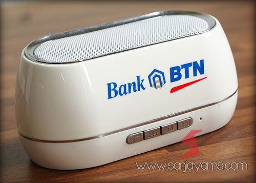 Cetak speaker logo Bank BTN