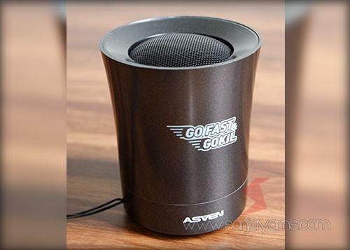 Hasil cetakan 1 warna di Bluetooth Speaker