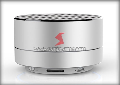 Bluetooth Speaker Warna Silver