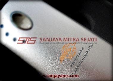Detail cetakan logo PT Pos Indonesia