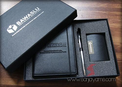 Hasil Cetak Logo BAWASLU pada gift set