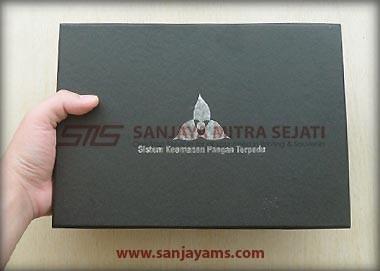 Hasil cetak logo di box gift set 802