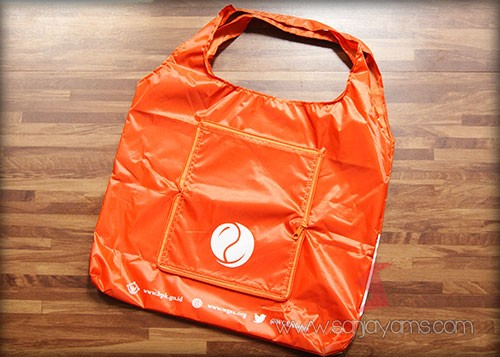 Goodie bag berwarna orange