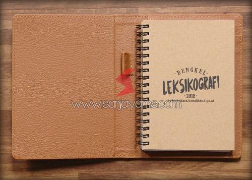 Cover memo bahan craft cokelat