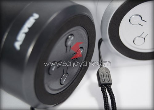 Detail tombol bluetooth speaker