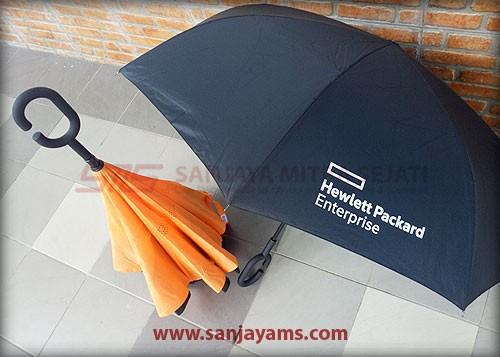 Payung tertutup dan terbuka