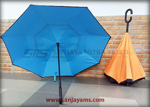 Detail bagian dalam payung