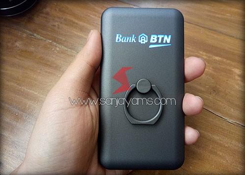Hasil cetakan laser logo Bank BTN
