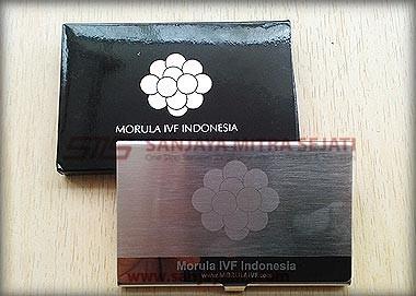 Gravir Logo Morula + Cetak Silver di Kotak