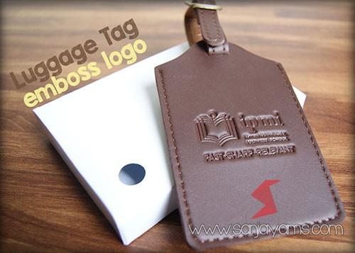 Luggage tag bahan kulit sintetis
