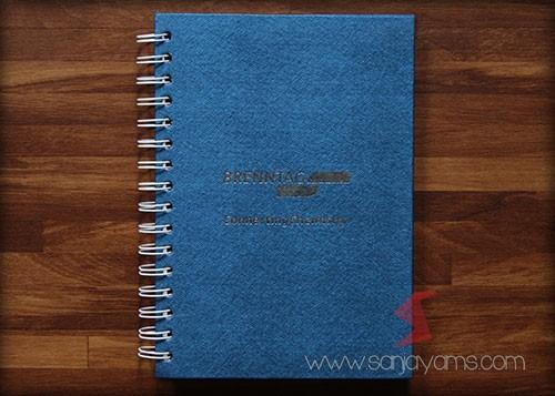 Hasil cetak logo Brenntag warna biru