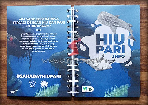 Memo Hard cover dengan design hiu pari