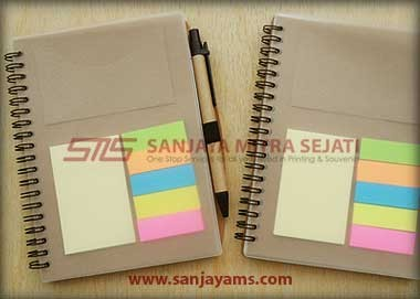 Memo Cokelat + Post It + Pen (MC01)