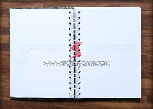 Detail bagian kertas memo hard cover