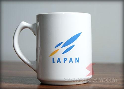 Hasil cetakan dengan logo Lapan