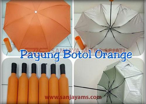 Payung botol warna orange
