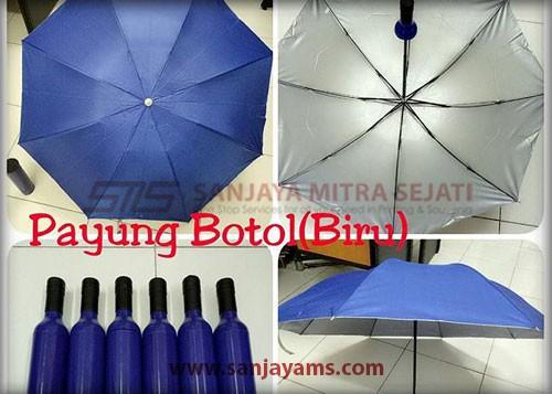 Payung botol warna biru