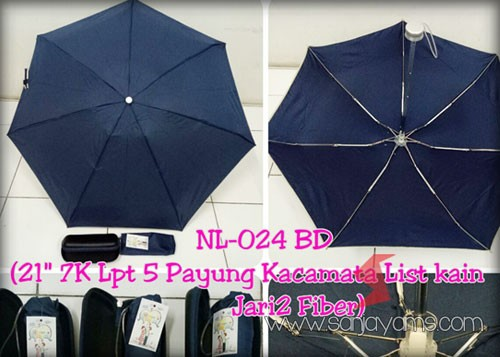 Payung dompet dengan warna navy