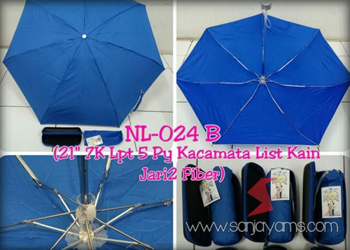 Payung dompet warna biru tua
