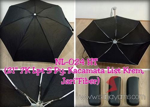 payung dompet dengan warna hitam