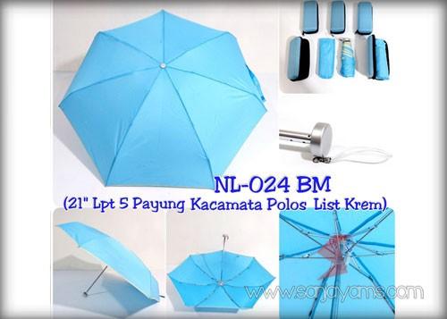 Payung dompet warna biru
