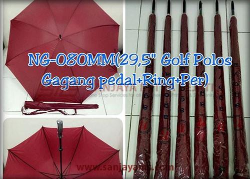 Payung golf warna merah maroon
