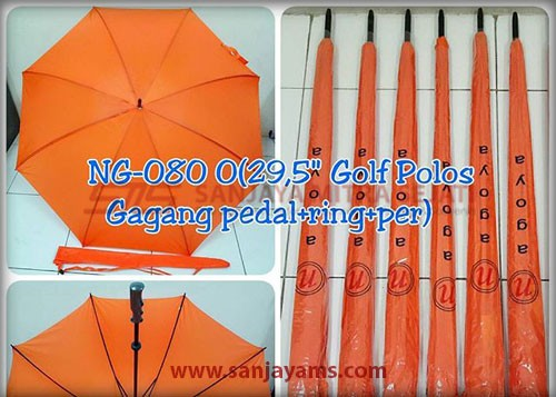 Payung golf warna orange