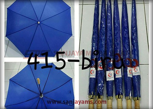 payung warna biru