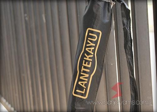 Hasil cetakan logo pada tas payung