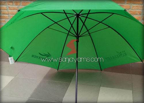 Rangka payung golf warna hijau