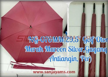 Payung golf otomatis warna merah maroon