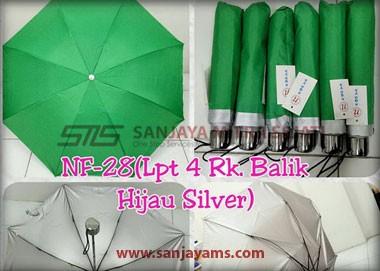 Payung warna hijau