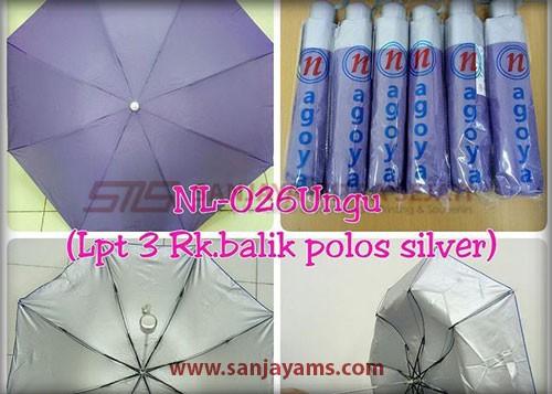 Payung lipat 3 warna ungu