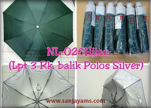 Payung lipat 3 warna hijau
