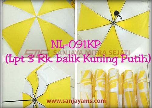 Payung lipat 3 warna kuning putih