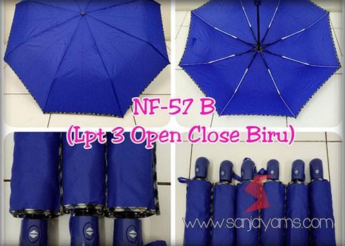 Payung Lipat 3 Otomatis Biru