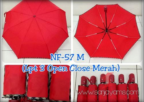 Payung Lipat 3 Otomatis Merah