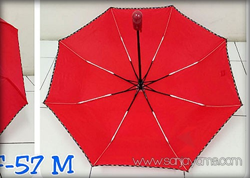 Rangka Payung Lipat 3 Otomatis Merah