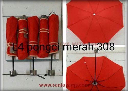 Payung warna merah