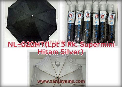 Payung lipat 3 warna hitam