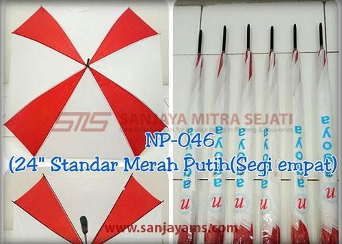 payung kombinasi merah putih
