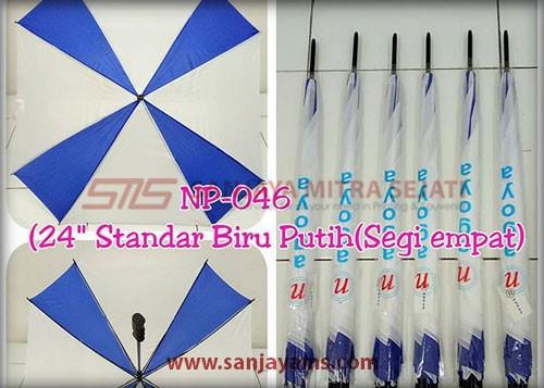 payung kombinasi biru putih